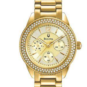 Bulova Gold 36mm Diamond Accent Watch